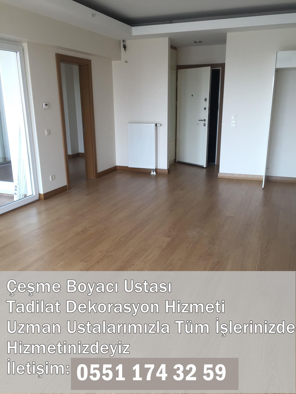 Izmir çeşme Alaçatı Mahallesi Boya Badana Ustası 0551 174 32 59